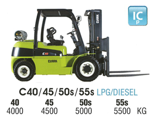 Clark C40S IC Pneumatic Forklift